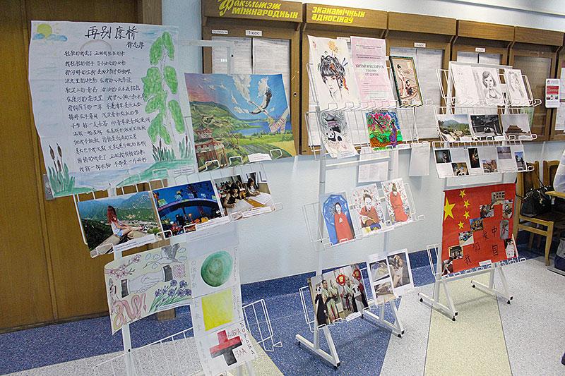 К дружбе через творчество (Выставка творческих работ «Китай и Беларусь глазами студентов»)